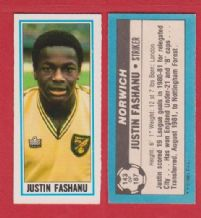 Norwich City Justin Fashanu 143